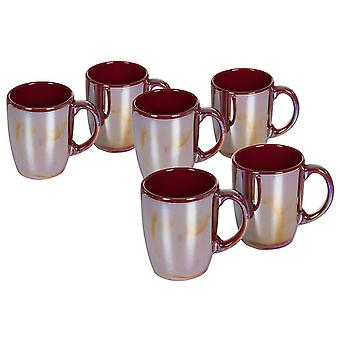 Wellindal Set of 6 bordeaux luster jars (Kitchen , Jugs and Bottles , Jugs)