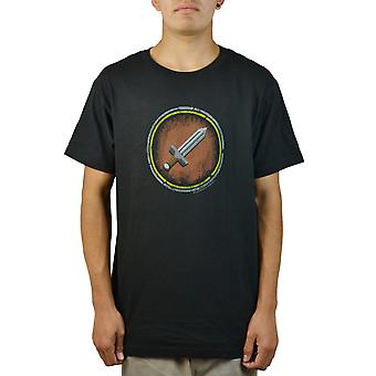 World of Warcraft Sword-Shield Black T-shirt