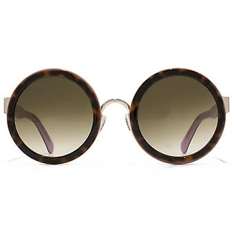 Marc Jacobs Round Sunglasses In Havana Pink