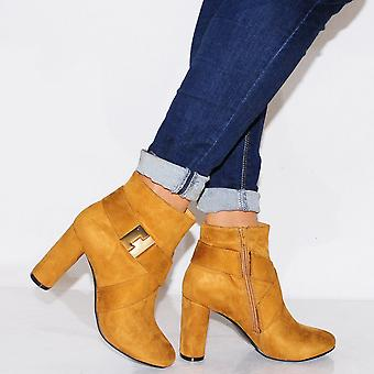 Koi Couture Ladies Kd17 Tan Buckle Ankle Boots