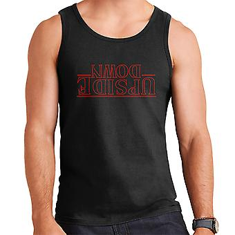 Stranger Things Upside Down Text Men's Vest