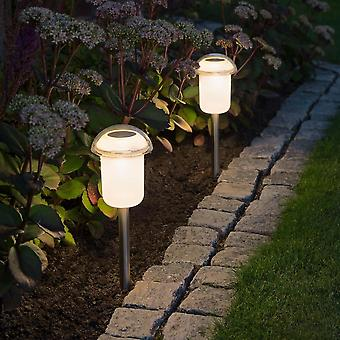 Konstsmide Solar Power Flowerbed Spike Lights Colour Changing