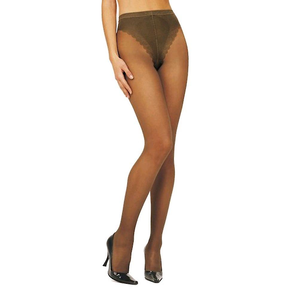 Solidea Naomi 140 Sheer Support Tights [Style 131A4] Visone (Light Brown)  M
