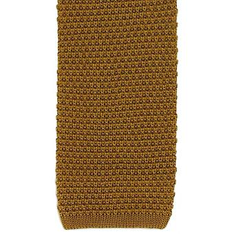 Michelsons of London Silk Knitted Tie - Gold