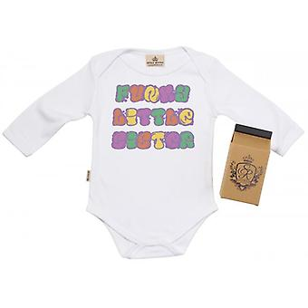 Spoilt Rotten Funky Little Sister Baby Grow 100% Organic In Milk Carton
