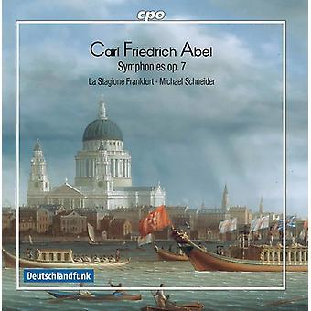 Abel / La Stagione Frankfurt / Schneider - Carl Friedrich Abel: symfoni Op 7 [CD] USA import