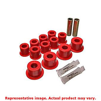Energy Suspension Leaf Spring Bushing Set 14.2102R Red Rear Fits:ISUZU 1987 - 1