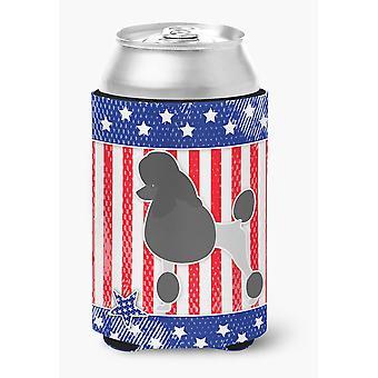 Carolines Treasures  BB3339CC USA Patriotic Poodle Can or Bottle Hugger