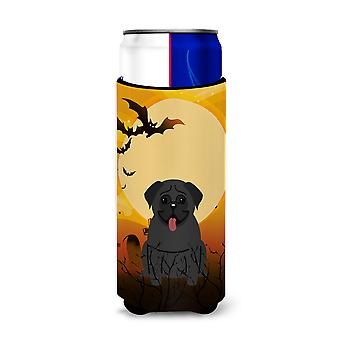 Halloween Pug Black Michelob Ultra Hugger for slim cans