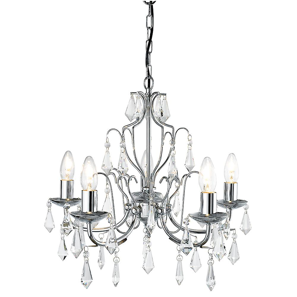 Searchlight 6945-5CC Martina 5 Light Chandelier