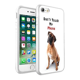 i-Tronixs Apple iPhone X 10 Dont Touch My Phone Teddy Bear Design Printed Case Skin Cover - 001