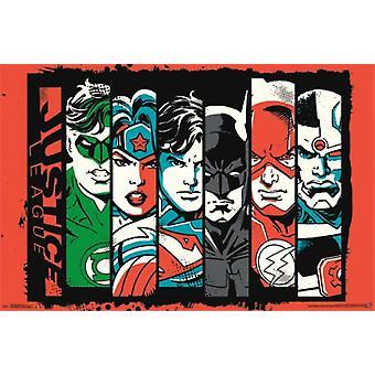 Justice League - barer plakat plakat Print