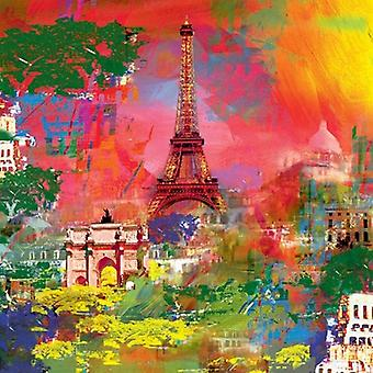Paris Poster Print by Robert Holzach (27 X 27)