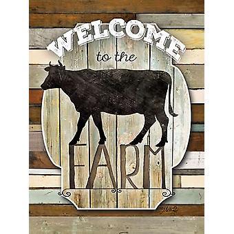 Welkom bij de boerderij Poster Print by Marla Rae (12 x 16)