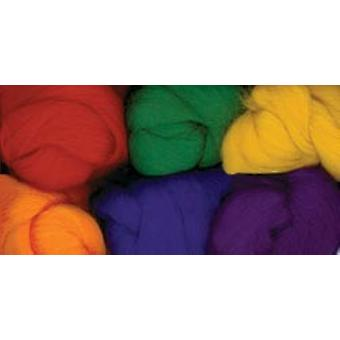 Paint Box Wools .33 Ounce 6 Pkg Bright & Bold Rd Gld Grn Roy Pur Orn Cnpbw 3