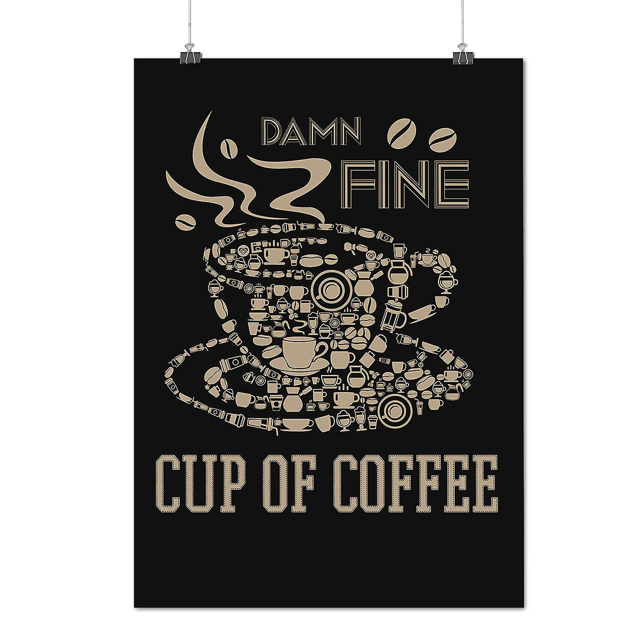 Matte or Glossy Poster with Coffee Cup Hot Fine Food | Wellcoda | *d2365