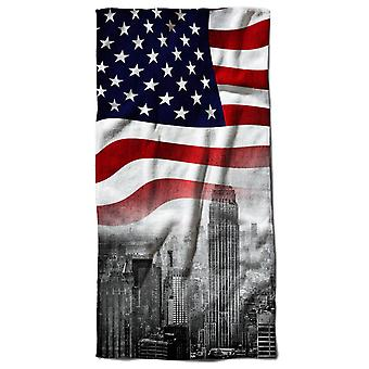 New York City Flag Beach Towel 70cm x 150cm | Wellcoda