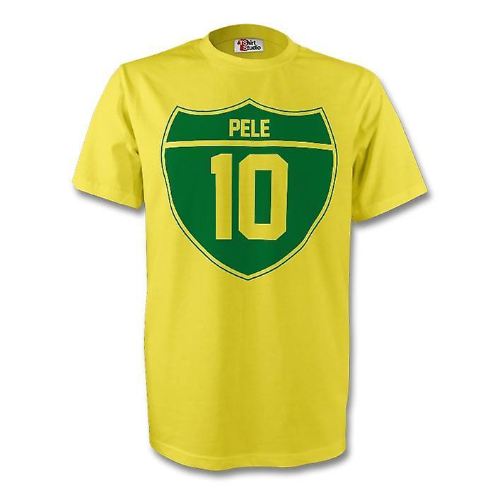 Crest Brésil Pelé T (jaune) - Enfants