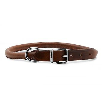 Ancol Leather Round Collar
