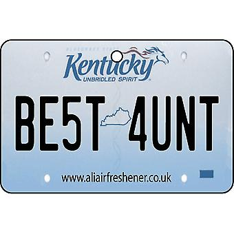 Kentucky - Best Aunt License Plate Car Air Freshener