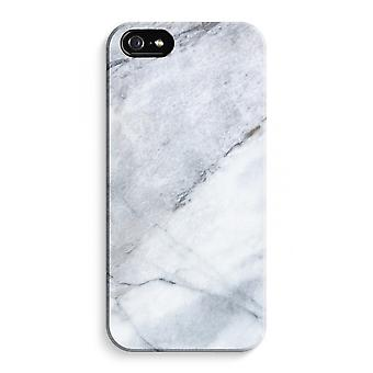 iPhone 5C Full Print Case (Glossy) - Marble white