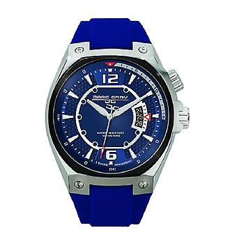 Men's Watch JG8300-13 - Blue Sillicone Strap - Blue Dial - Jorg Gray