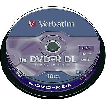 Blank DVD+R DL 8.5 GB Verbatim 43666 10 pc(s) Spin