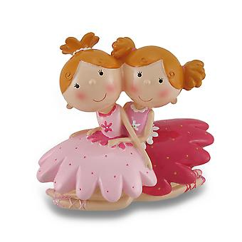 Best Friends Ballerina Coin Bank Statue