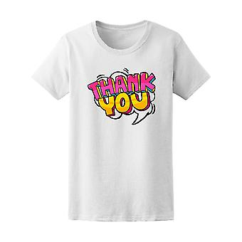 Thank You Bubble Message Pop Art Tee Women's -Image by Shutterstock