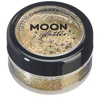 Holographic Glitter Shakers by Moon Glitter – 100% Cosmetic Glitter for Face, Body, Nails, Hair and Lips - 5g - Gold