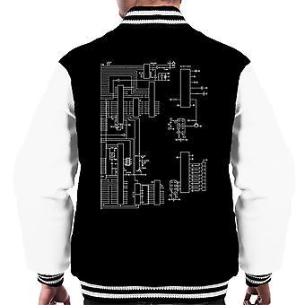 Nintendo Computer Schematic Men's Varsity Jacket