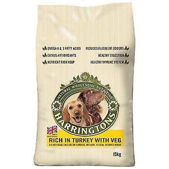 Harringtons hund mad komplet Tyrkiet og grøntsager tørre Mix 15kg