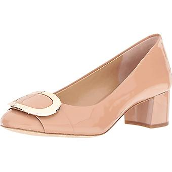 Michael Kors Womens Pauline Mid Pump Leather Closed Toe Classic Pumps