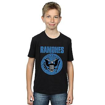 Ramones Boys Blue Seal Logo T-Shirt