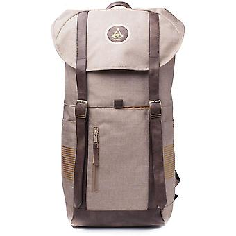 Bioworld Assassins Creed Origins Crest Logo Sport Style Backpack Tan/Brown