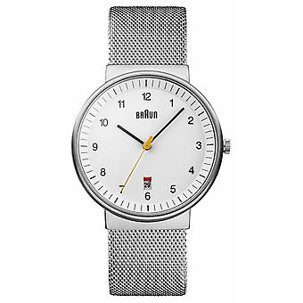 Braun Mens Silver White BN0032WHSLMHG Watch
