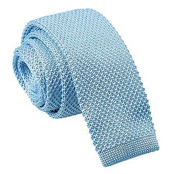 Gestrickte schmaler Krawatte hellblau