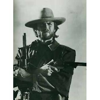 Clint Eastwood Guns Poster Poster Print