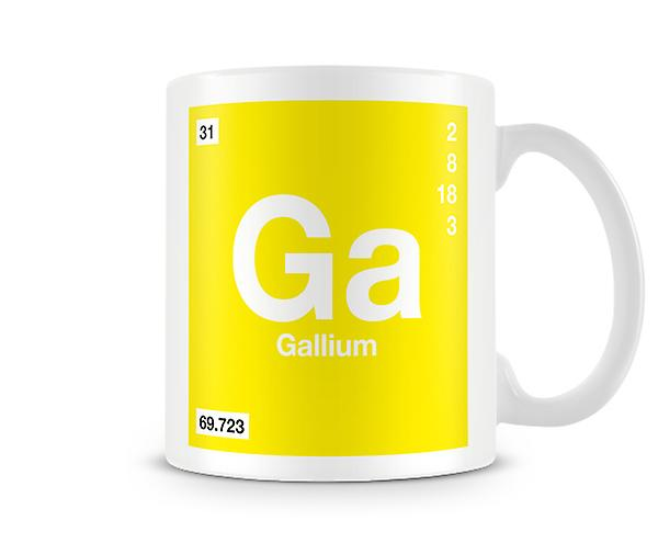 Element Symbol 031 Ga - Gallium Printed Mug