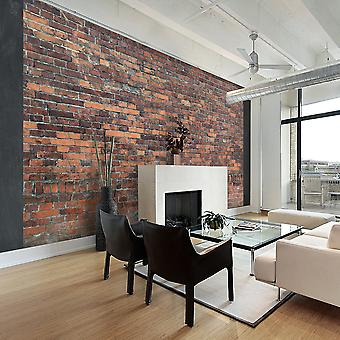 Wallpaper - Vintage Wall (Red Brick)