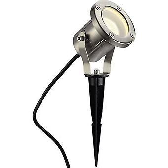 Garden spotlight LED, Energy-saving bulb, HV halogen GU10 35 W Nautilus Spike 229740 Stainless steel