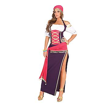 Elegant Moments Womens Gypsy Maiden Renaissance Halloween Roleplay Costume