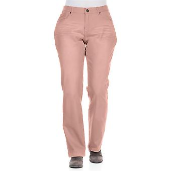 sheego permanent wrinkles big sizes long pink stretch