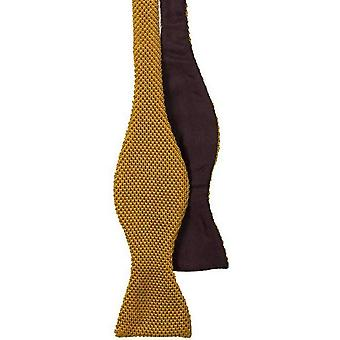 40 Colori Knitted and Woven Untied Butterfly Bow Tie - Copper