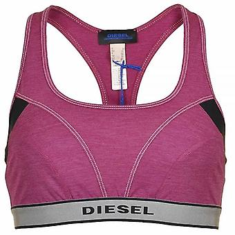 DIESEL Women Miley S Stretch Jersey Bralette, Purple, Large