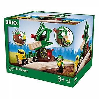 BRIO Playset sawmill with light and sound-33774