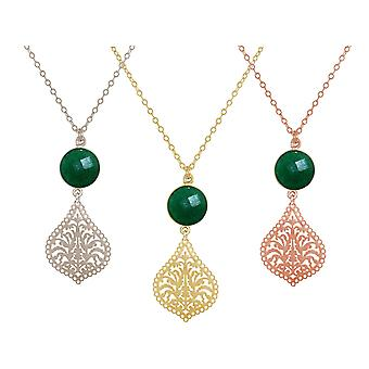 GEMSHINE mandala and Emerald Necklace. Pendant made of silver, gold plated or 45cm necklace. Made in Madrid, Spain. Delivered in an elegant gift case.