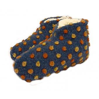 Bed shoes wool dots blue 42/43