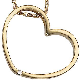 Rimorchio di IZZY cuore d'oro 585 diamante diamante 0,01 ct
