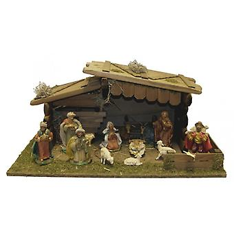 Crib Nativity Christmas Nativity stable MELCHIOR wooden crib